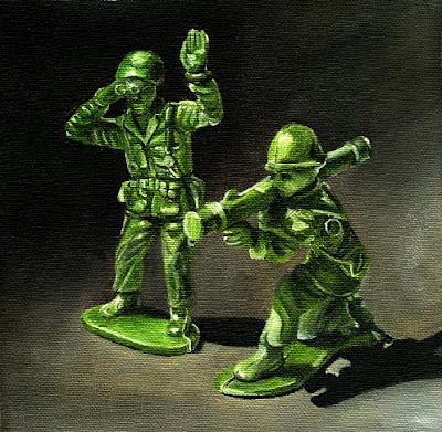 Little green army men