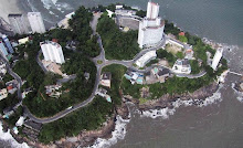 Vista aérea da Ilha Porchat