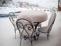 Patio snow cake