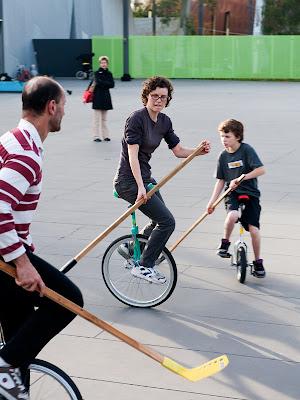 Unicycle hockey