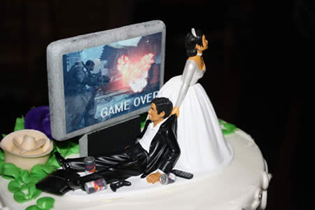 Gamer Wedding Cake Topper