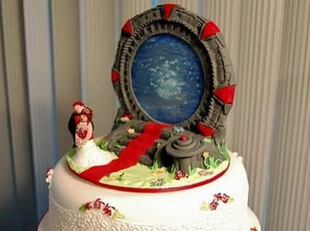 Stargate Wedding Cake Topper