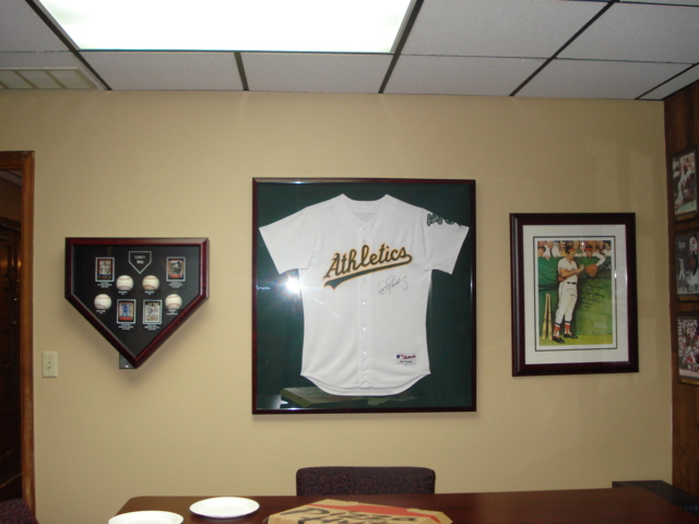 The Jersey Poster And Baseball Collection Make A Great Display When Grouped Together