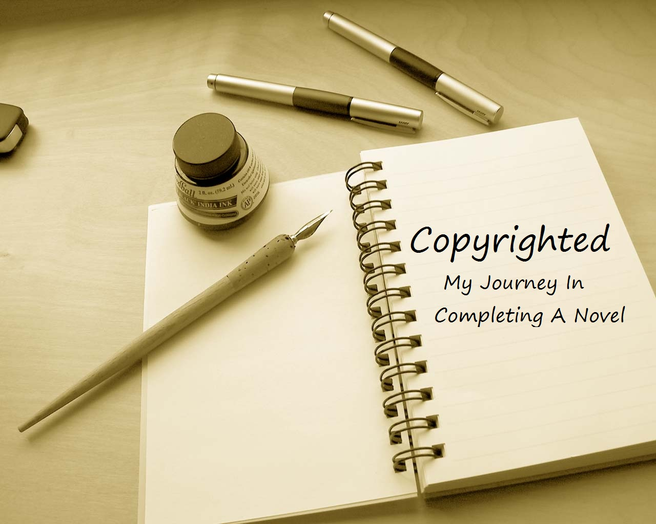 Copyrighted: My Journey In Completing A Novel