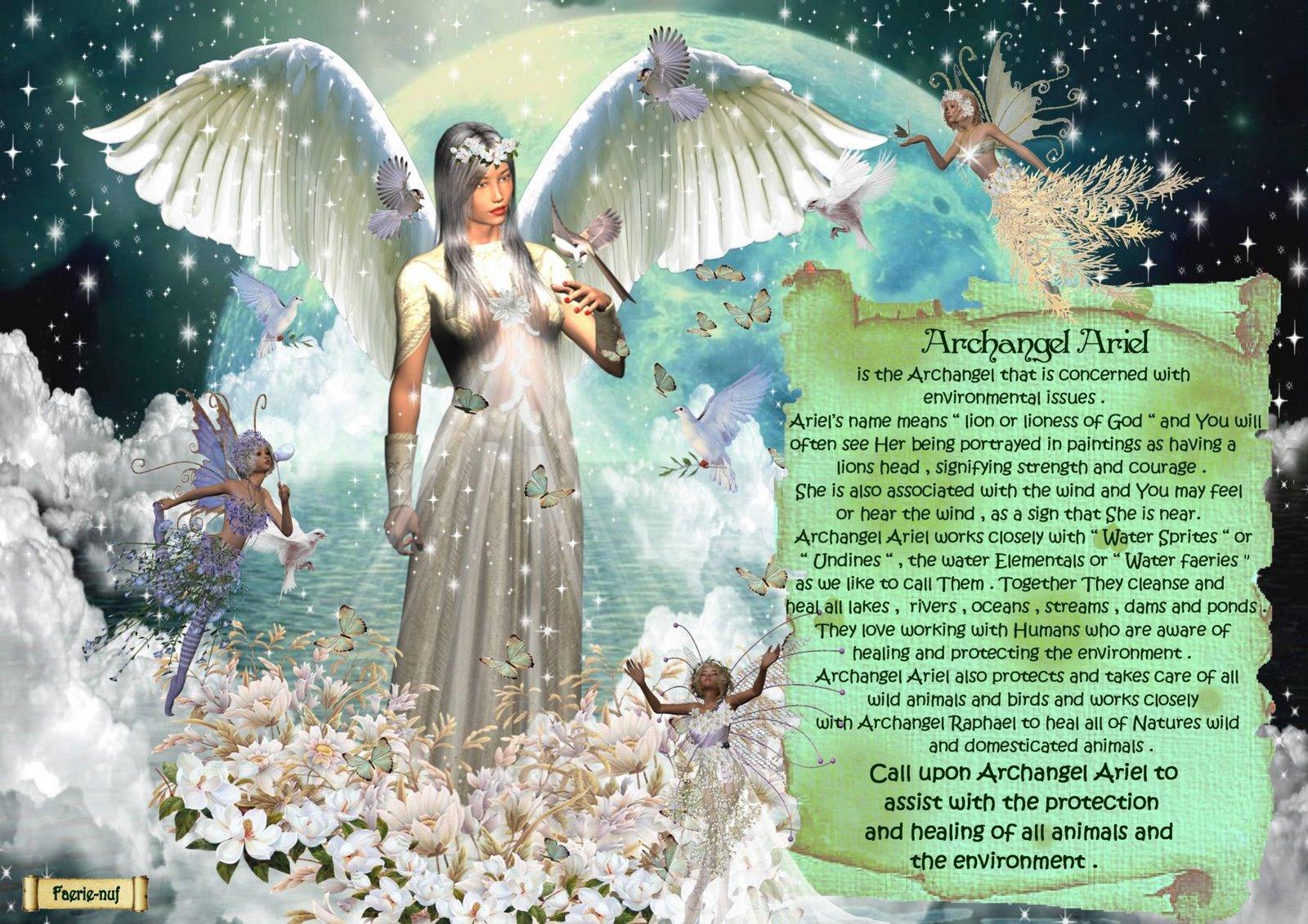 Изображение ангела ариэль
