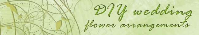 DIY wedding flower arrangements