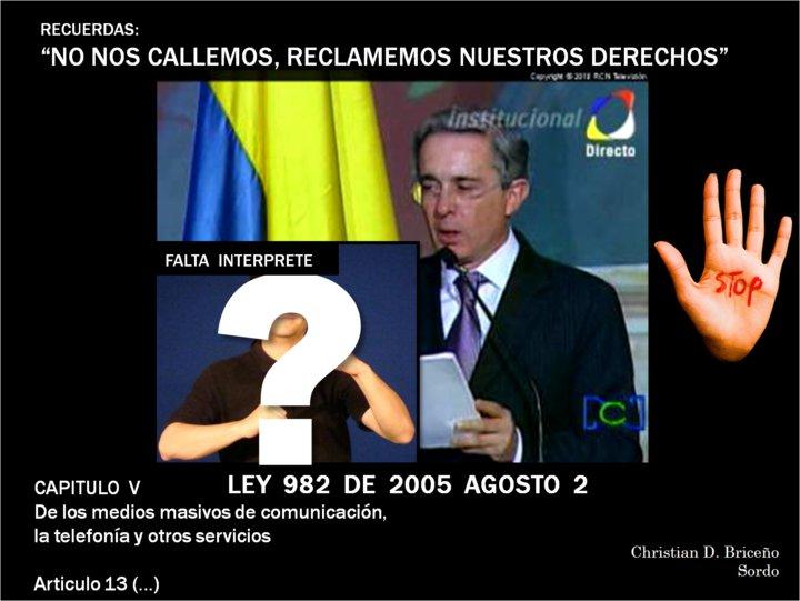 ley 982 de 2005: