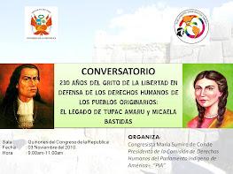 HOMENAJE A TUPAC AMARU II y MICAELA BASTIDAS