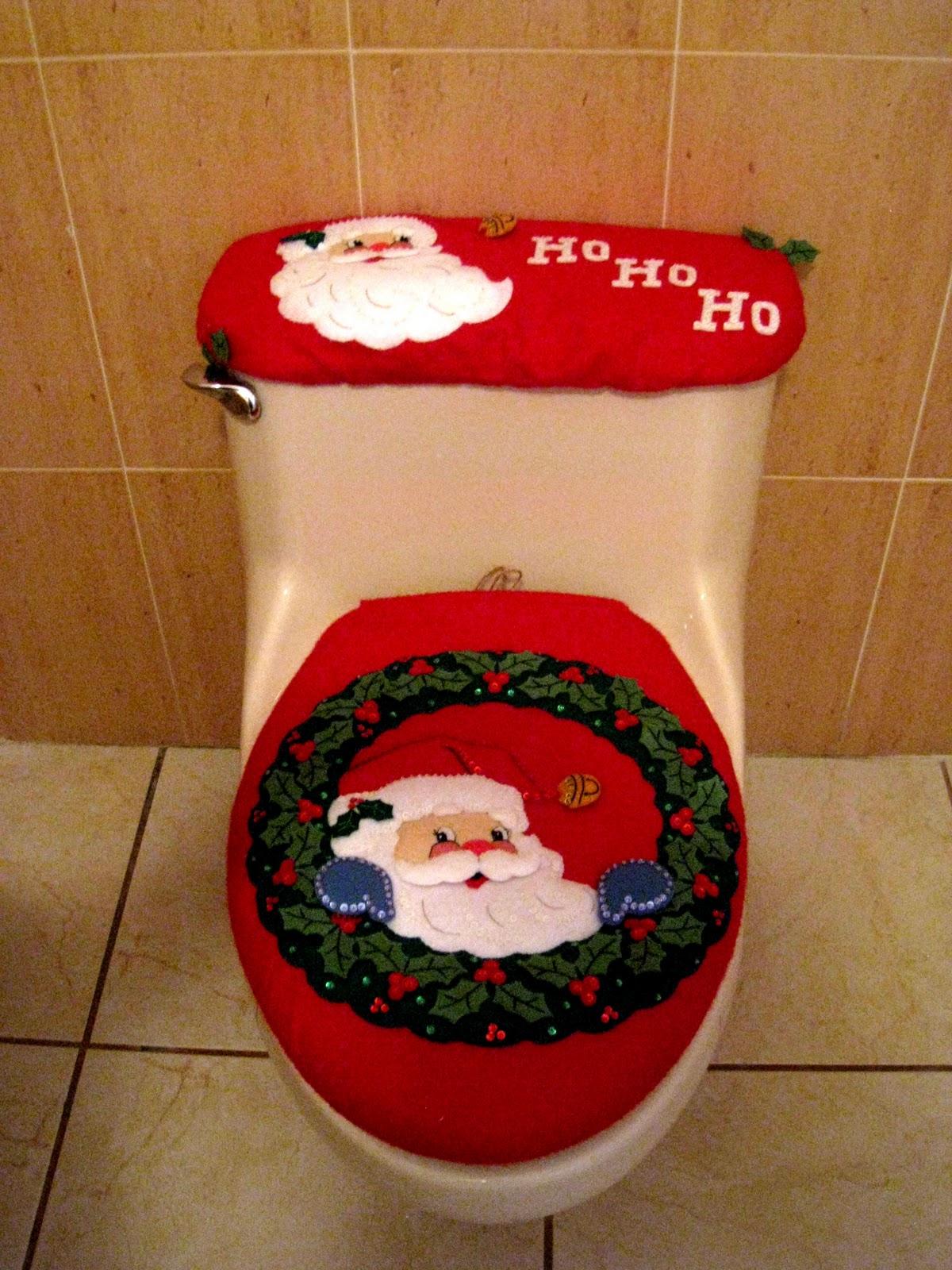 Set De Baño Navideno Manualidades:Creación Punto por Punto: Trabajos navideños en fieltro