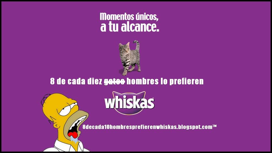 8 de cada 10 hombres prefieren whiskas.