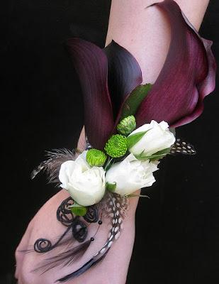 Black Calla Lily Corsage