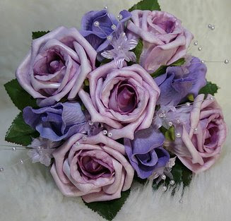 Purple Rose Bridesmaid Bouquet