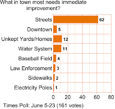 TIMES POLL: Have Your Priorities Changed In The Past Year? What In Town Most Needs Immediate Work?