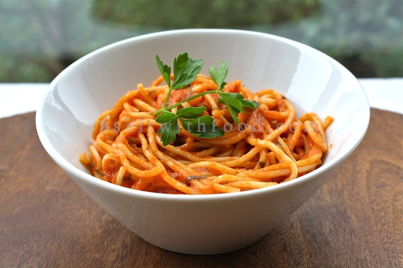 with tomato and ricotta spaghetti with sausage and simple tomato sauce ...