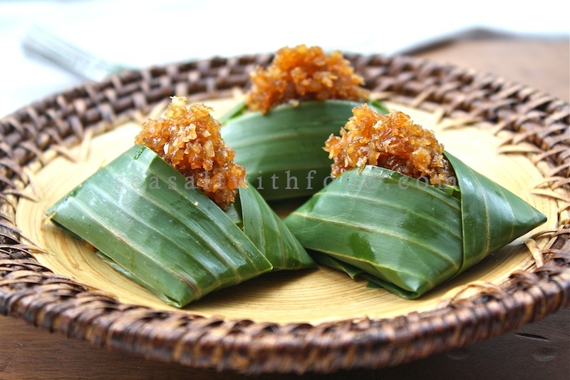 Coconut Sticky Rice In Banana Leaves (Pulut Inti) Recipes — Dishmaps