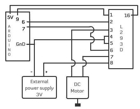 Blog Do Miklos Controlar Motores Dc Com L293d