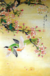Birds in Cherry Tree I
