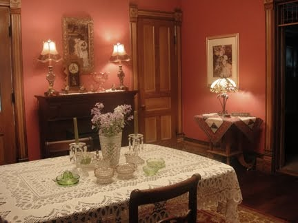 1893 Victorian Farmhouse Restoring The Red Dining Room