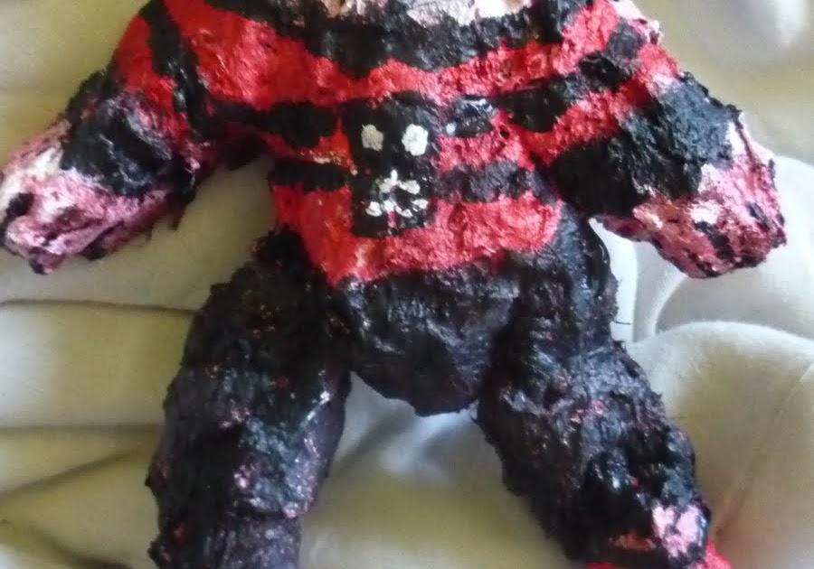 The Lint Filter Skully Darkmoon Lint Clay Art Doll