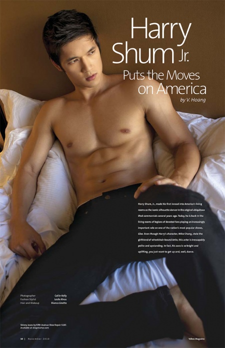 Our favorite Asian -Hunk-Gleek, Harry Schum jr. is Shirtless for Yellow