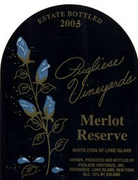 Pugliese Vineyards Reserve Merlot