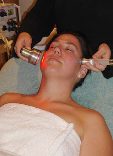 Microdermabrasion and LED therpay at LaCarezza Salon in Southampton
