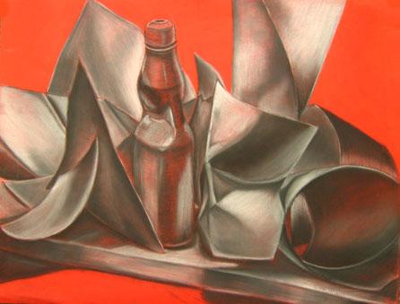 Su Kim,  charcoal on canson, 01-15-08