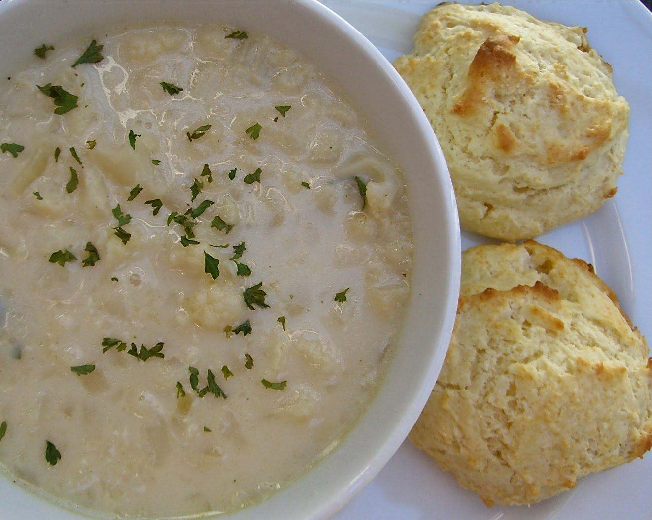 Cream of Cauliflower Soup & Buttermilk Biscuits | Lauren's Latest