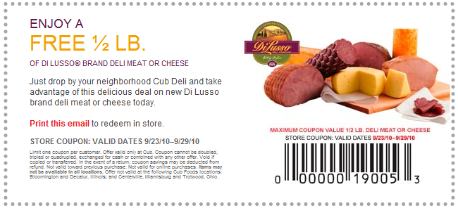 Di lusso deli meat coupons