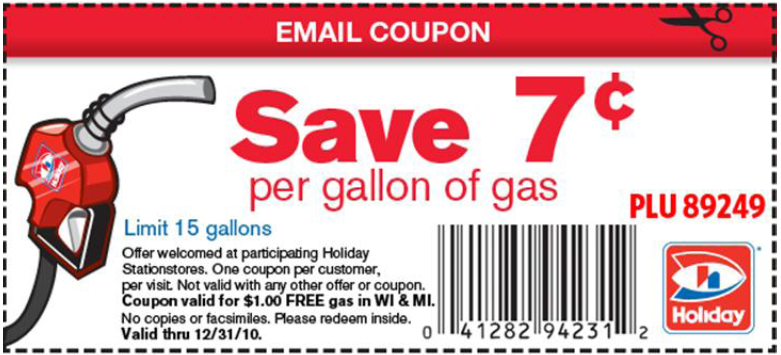 Gas coupons mn 2018