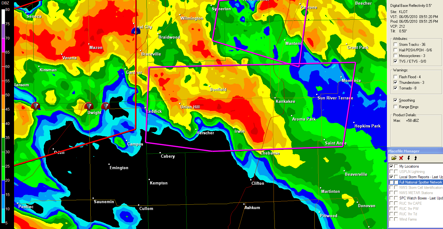 The Original Weather Blog Tornadoes Ripping Across Northern Illinois - Weather radar map southeast us