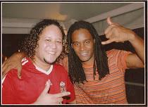 Eu e o amigo Tony Garrido