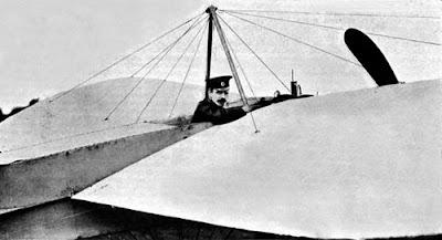 Матыевич-Мацеевич на аэроплане Блерио