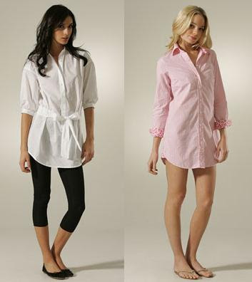 shirt dresses is to wear them over leggings (left -by Vince).