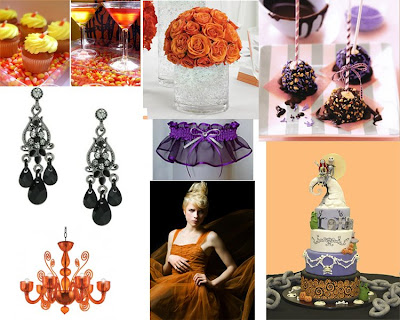 Halloween Wedding 1 Orange Purple and Black