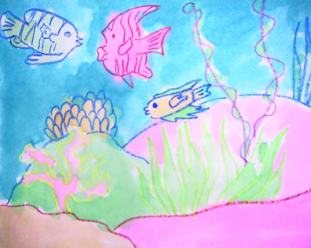 Rainbow Fish Blue Fish Rainbow Fish With Markers