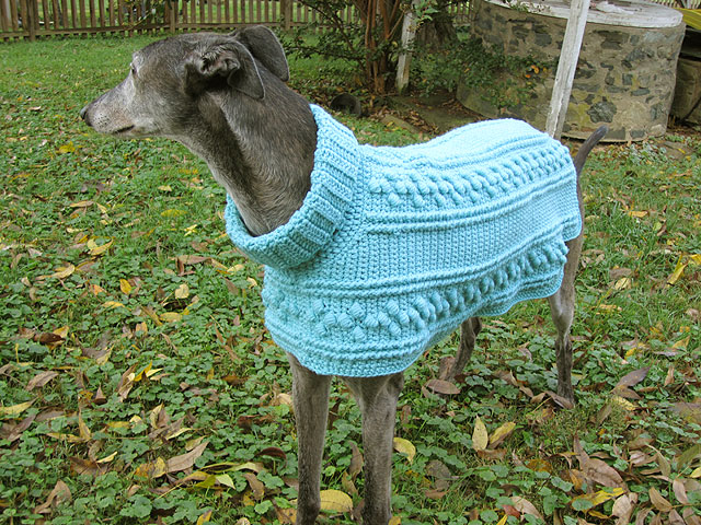 Hartwood Roses Crocheted Dog Sweater For The Greyhounds Rock Silent
