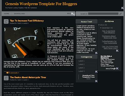 Genesis Blogger Template