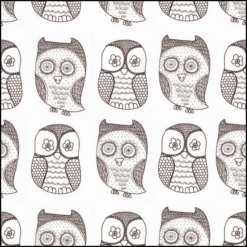 Here s a quick little pattern i made from a couple of owl doodles