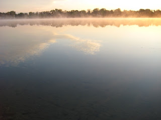 sunrise on north center lake