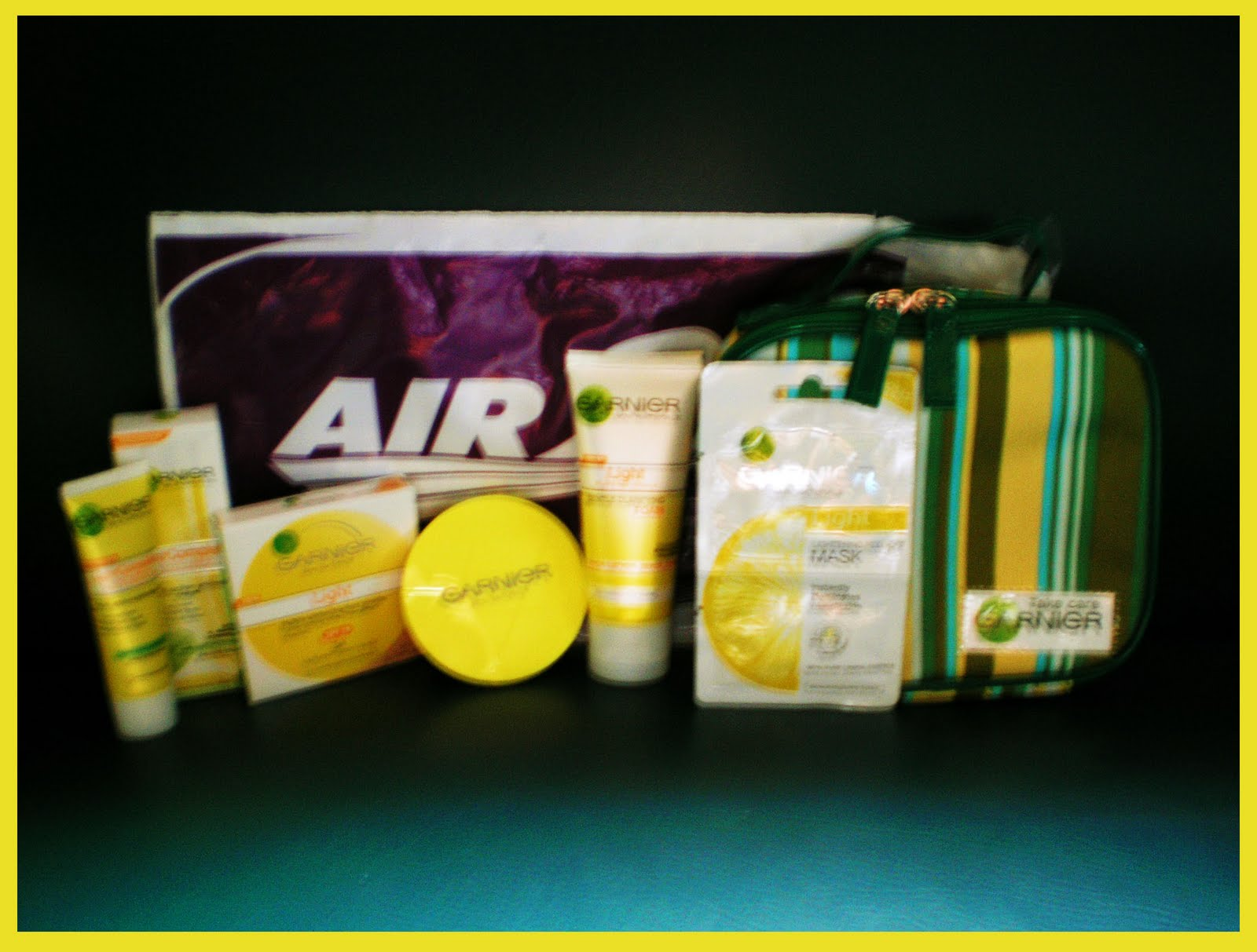 clarifying foam, Contest Promos and Winnings, face powder, garnier, multi action whitening cream, peel-off masks, prize, pouch, air 21