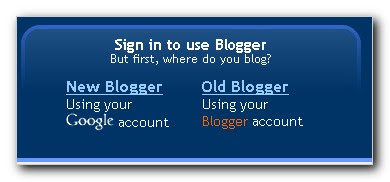 New Blogger and Old Blogger account login