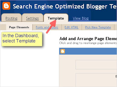SEO Blogger Template Tutorial - Step 1
