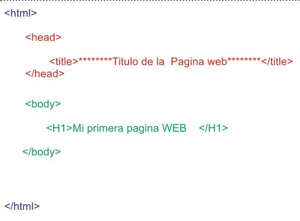 mi primera pagina web en html