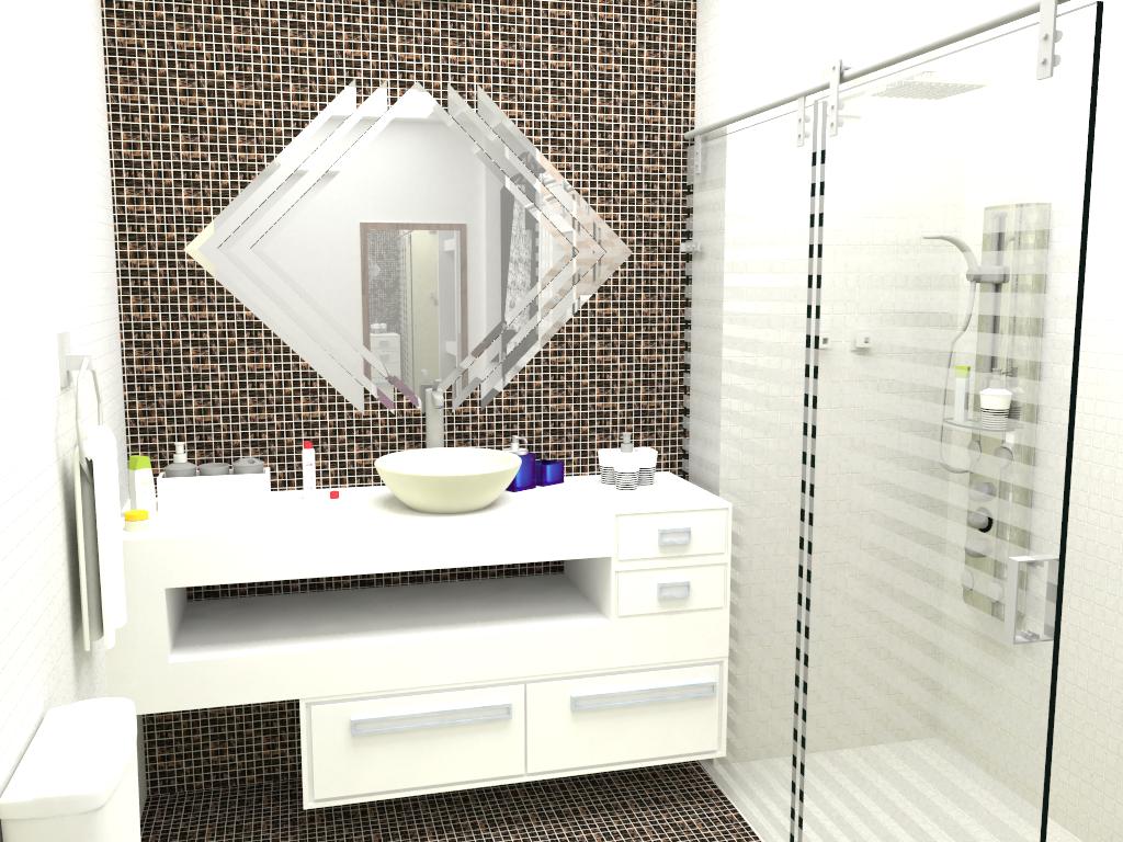 Design de Interiores: Banheiro e Closet #AFB318 1024x768 Banheiro Closet Fotos