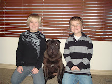 The boys with their dog Zoey