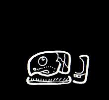 Glifo de cabeza que representa la constelación del Conejo o Izamatul