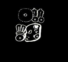 Glifos de la Luna y el zopilote