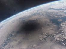 La sombra del eclipse sobre la tierra