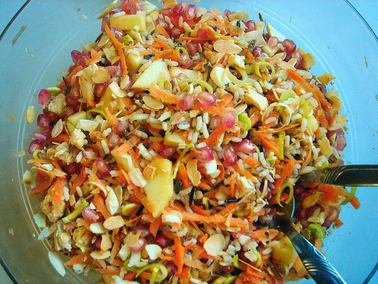 La cocina de marianne ensalada de arroz con pollo y granada - Ensalada de arroz light ...